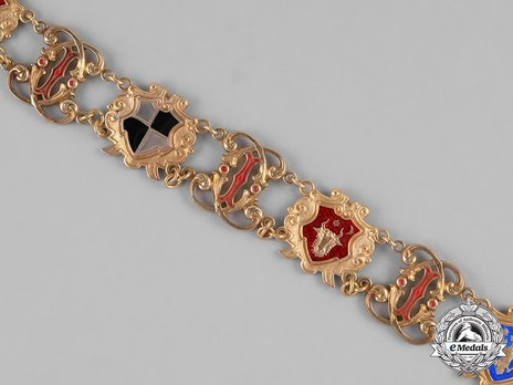 Order of Carol I, Collar Obverse Detail