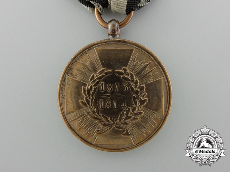edal for Combatants (with squared arms 1813 1814) Reverse