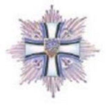 Order of the Cross of Terra Mariana, I Class Breast Star Obverse