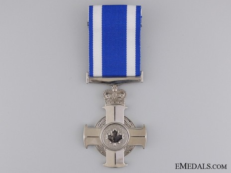Meritorious Service Cross (Military Division, in Rhodium-Plated Brass) Obverse