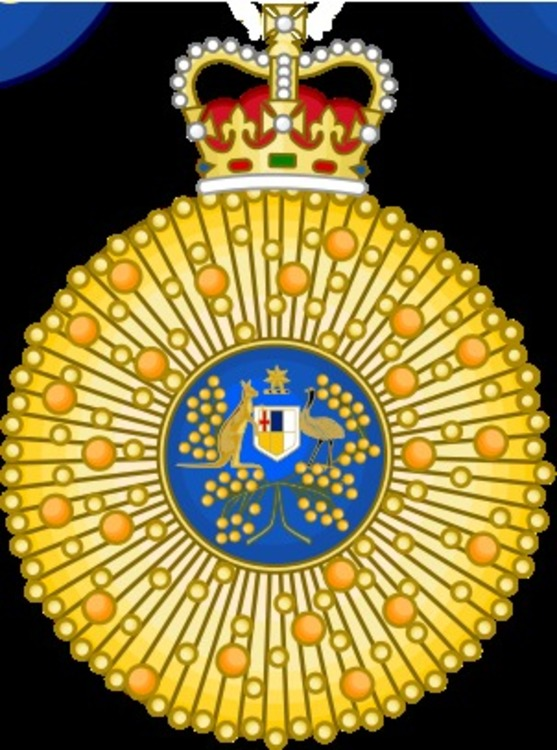 Order of australia+knight+breast+star