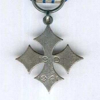 Miniature 19th Division Commemorative Cross Reverse