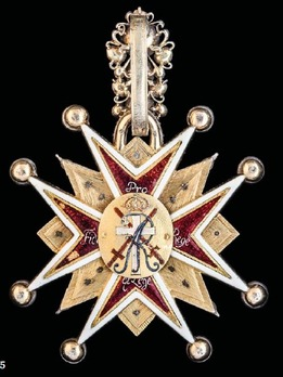 Order of the White Eagle, Cross (with diamonds, 1709-1764) Reverse