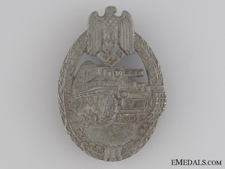 Panzer Assault Badge, in Bronze, by F. Orth Obverse