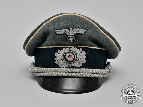 German Army Infantry Officer's Visor Cap Front