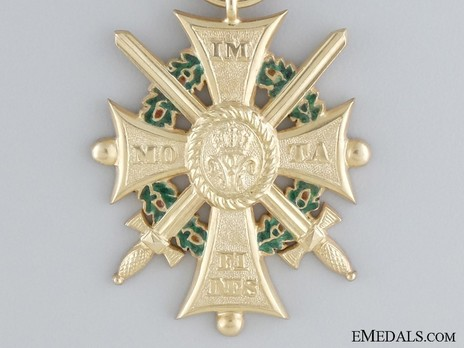 Dukely Order of Henry the Lion, I Class Merit Cross with Swords (in silver gilt) Obverse