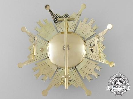 Grand Cross Breast Star (Gold) Reverse