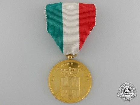 Medal for Civil Valour, in Gold Obverse