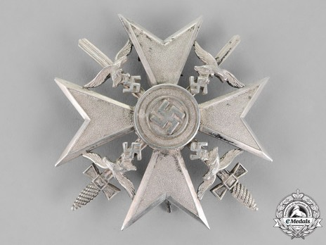 Spanish Cross in Silver with Swords Obverse