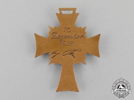 Cross of Honour of the German Mother, in Bronze Reverse