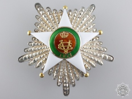 Order of the Colonial Star of Italy, Grand Cross Breast Star Obverse