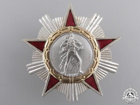 Order of Freedom, II Class (screwback) Obverse