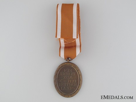 West Wall Medal Reverse