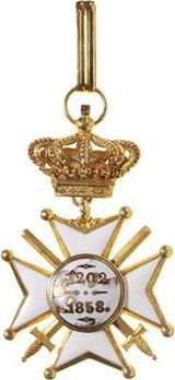 Order of Civil and Military Merit of Adolph, Grand Cross, in Gold (Military Division) Reverse