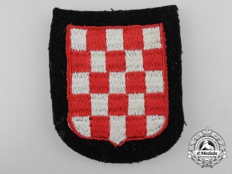Waffen-SS Croatian Volunteer Arm Shield (1st pattern) Obverse