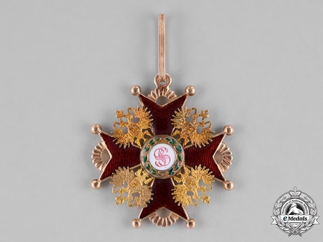 Order of Saint Stanislaus II Class Badge Obverse