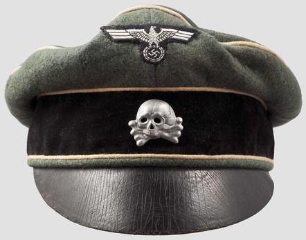 SS-VT Old Style Visor Cap Obverse