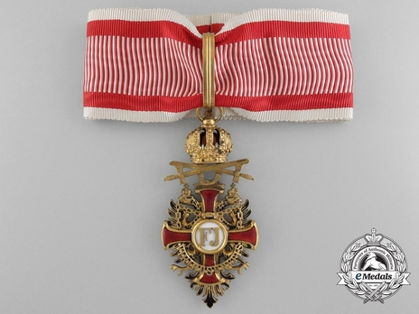 Type II, Military Division, Commander (with gold swords) Obverse