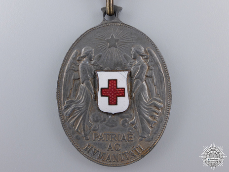 Honour Decoration of the Red Cross, Civil Division, Silver Medal Obverse