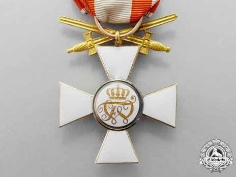 Type V, Military Division, III Class Cross (with bow, crown & swords, in gold) Reverse