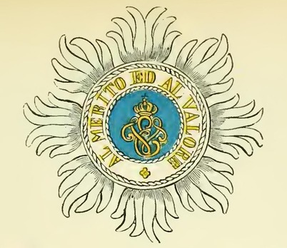 Military Order of Savoy, Type I, Grand Cross Breast Star Obverse