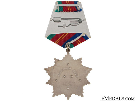Order of Friendship of Peoples Star Medal Reverse