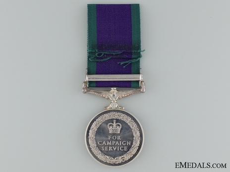 "Silver Medal (with ""NORTHERN IRELAND"" clasp) Reverse"