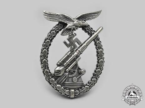 Luftwaffe Flak Badge, by Assmann (in tombac) Obverse
