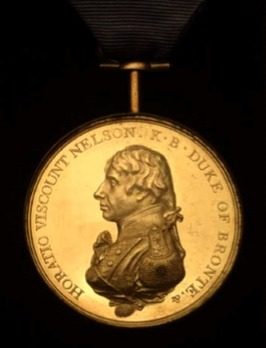 Boulton's Trafalgar Medal, in Tin Obverse