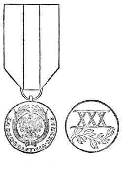Long Service Medal, I Class Obverse and Reverse