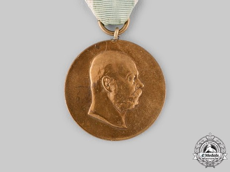 "Medal for 50 Years of Reign, in Bronze (stamped ""M.HASEROTH"")"