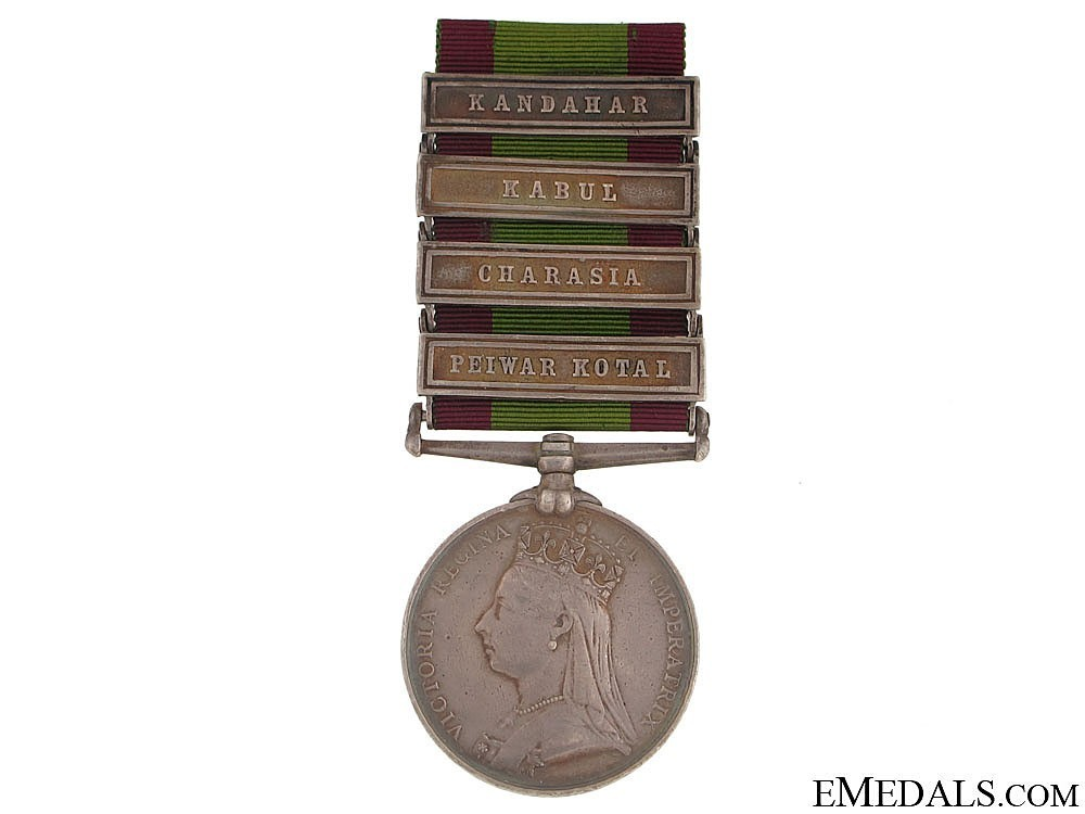 Silver medal with 4 clasps obverse