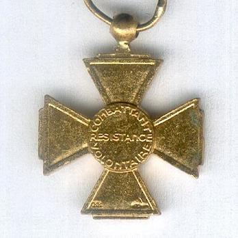 Miniature Gold Cross Reverse