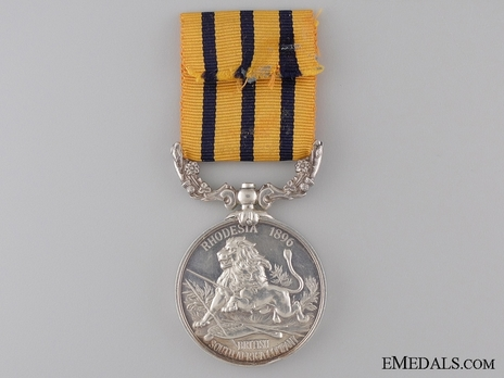 Silver Medal (for Rhodesia 1896) Reverse