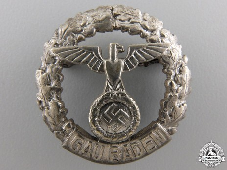 Gau Honour Badge Baden, in Silver, Small Obverse