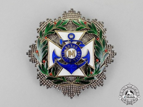 Order of Naval Merit, II Class Breast Star (for Other Services) Obverse