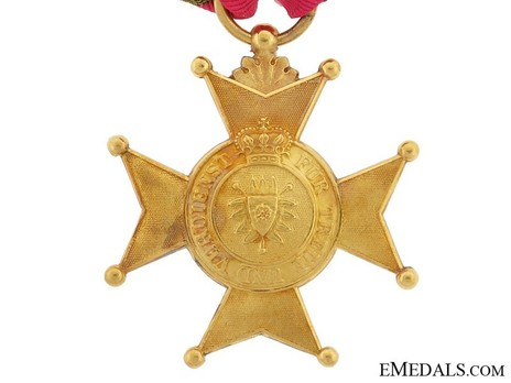 Gold Merit Cross Reverse
