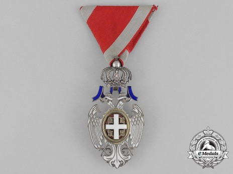 Order of the White Eagle, Type II, Civil Division, V Class Obverse