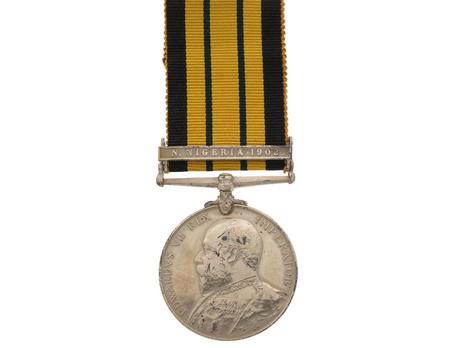 Silver Medal Edward VII (N. Nigeria clasp) Obverse
