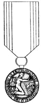 Decoration for Merit in Fighting Floods, II Class (1984-2001) Obverse