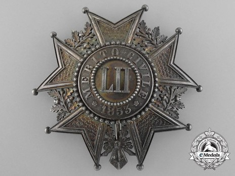 Order of Civil Merit, Grand Cross Breast Star Obverse