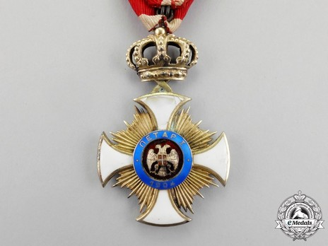 Order of the Star of Karageorg, Civil Division, IV Class Reverse