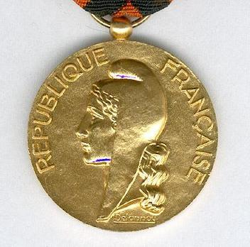 """Gilt Medal (Ministry of Industry and Commerce, stamped """"DELANNOY"""") Obverse"""