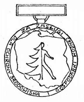 Decoration for Merit to Environmental Protection and Water Managment, II Class Obverse