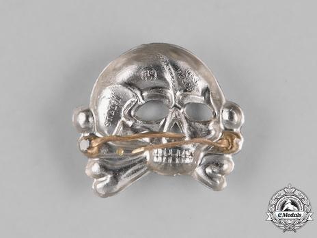Waffen-SS Metal Cap Death's Head Type I (nickel-silver) Reverse