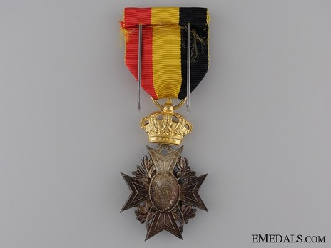 Special Decoration, in Gold (for Mutual Aid Societies) (by Fonson) Reverse