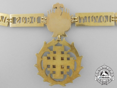 Equestrian Order of Merit of the Holy Sepulcher of Jerusalem (Type II) Collar Reverse Detail