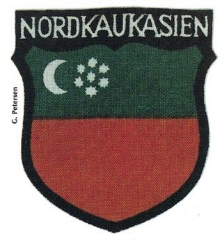 German Army North Caucasians Sleeve Insignia (1st version) Obverse