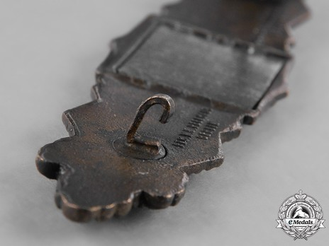 Close Combat Clasp, in Bronze, by C. E. Juncker Detail