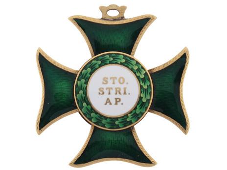 Order of St. Stephen of Hungary, Commander Reverse